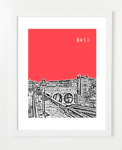 Bath England UK Skyline Art Print and Poster | By BirdAve Posters