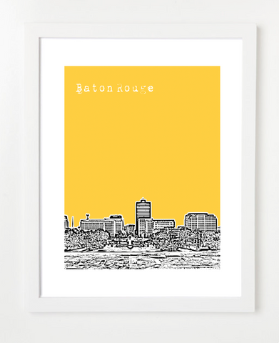 Baton Rouge Louisiana Skyline Art Print and Poster | By BirdAve PostersBaton Rouge Louisiana USA Skyline Art Print and Poster | By BirdAve Posters