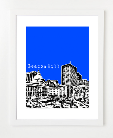 Beacon Hill Boston Massachusetts USA Skyline Art Print and Poster | By BirdAve Posters