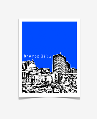 Beacon Hill Boston Massachusetts Poster