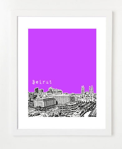 Beirut Lebanon Middle East Posters and Skyline Art Prints | By BirdAve