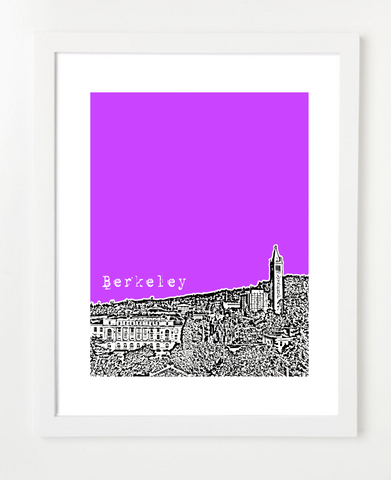 Berkeley California UC Berkeley Skyline Art Print and Poster | By BirdAve Posters