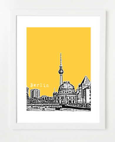 Berlin Germany Europe Posters and Skyline Art Prints | By BirdAve