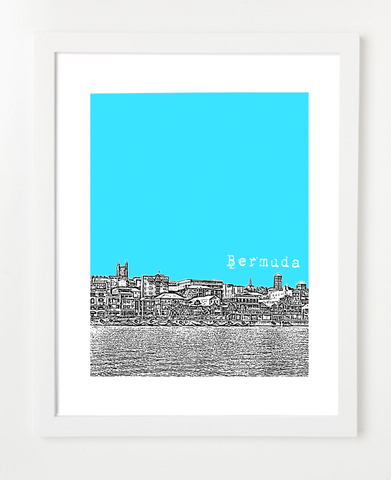Hamilton Bermuda Latin America Posters and Skyline Art Prints | By BirdAve