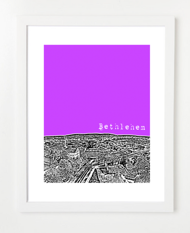 Bethlehem Pennsylvania Skyline Art Print and Poster | By BirdAve Posters
