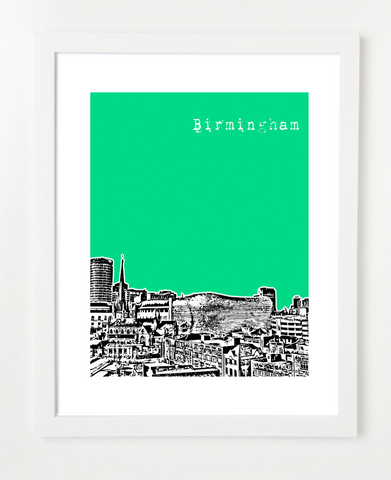 Birmingham England Europe Posters and Skyline Art Prints | By BirdAve