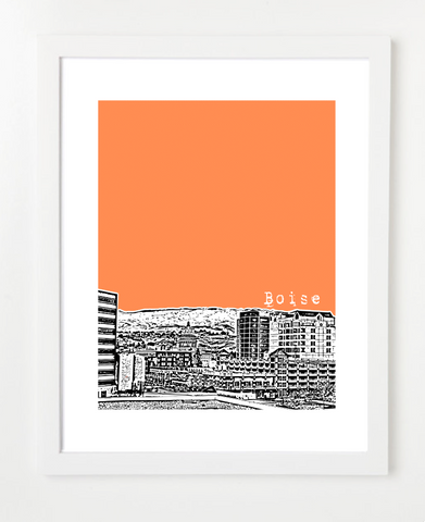 Boise Idaho Skyline Art Print and Poster | By BirdAve Posters