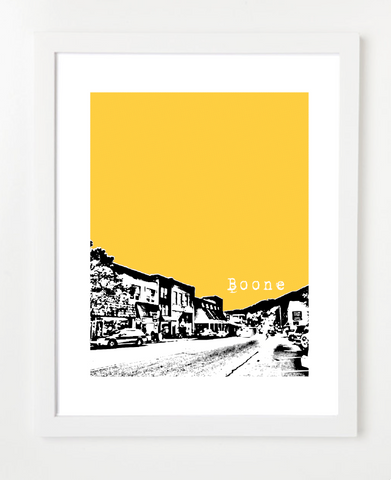 Boone North Carolina Skyline Art Print and Poster | By BirdAve Posters