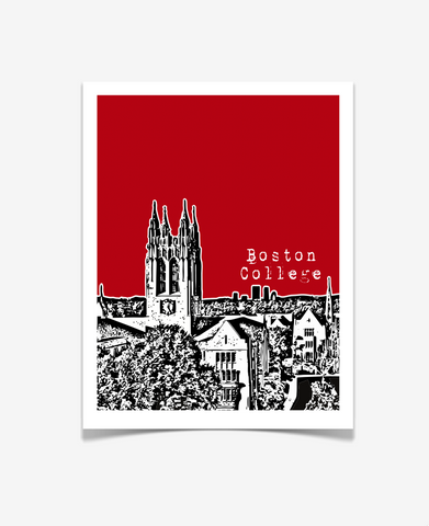 Boston College Gasson Hall Massachusetts Poster