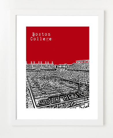 Boston College Eagles Skyline Art Print and Poster | By BirdAve Posters