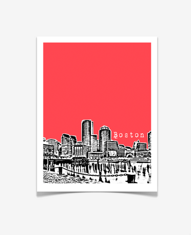 Boston Massachusetts Poster - VERSION 1