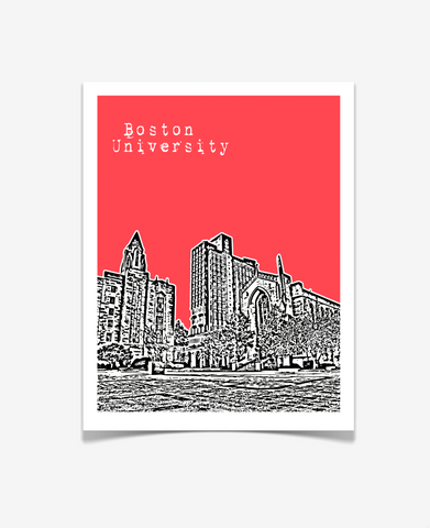 Boston University Massachusetts Poster - VERSION 1