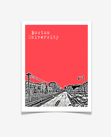 Boston University Massachusetts Poster - VERSION 2