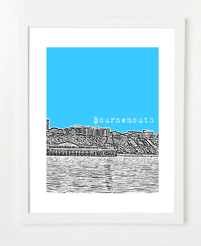 Bournemouth England Europe Posters and Skyline Art Prints | By BirdAve