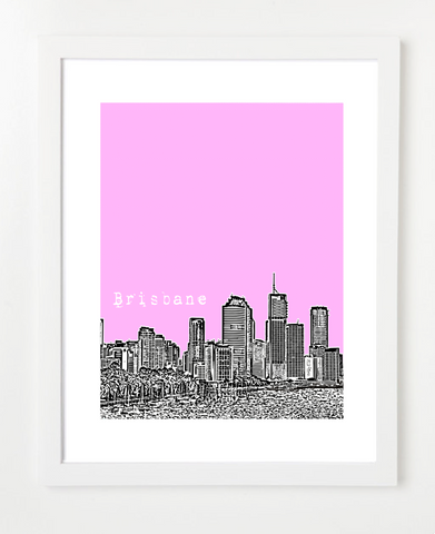 Brisbane Australia Posters and Skyline Art Prints | By BirdAve