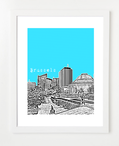 Belgium Brussels Europe Posters and Skyline Art Prints | By BirdAve