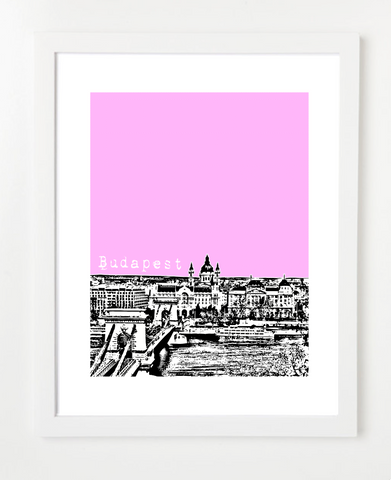 Budapest Hungary Europe Posters and Skyline Art Prints | By BirdAve
