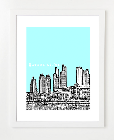 Buenos Aires Argentina Latin America Posters and Skyline Art Prints | By BirdAve