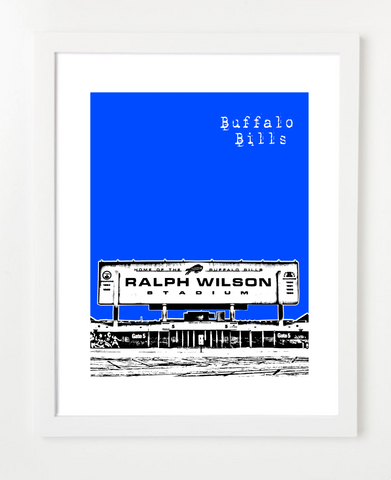 Buffalo Bills New York Posters and Skyline Art Prints | By BirdAve