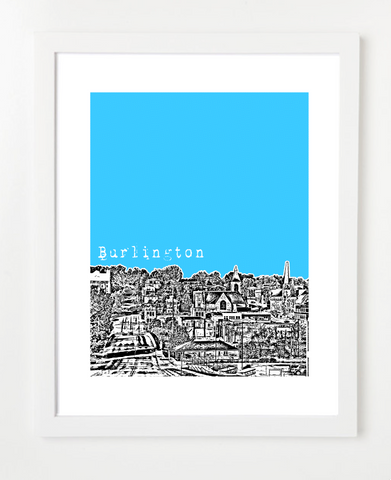 Burlington Iowa Skyline Art Print and Poster | By BirdAve Posters
