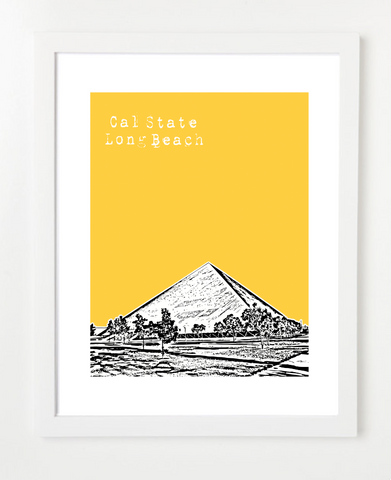 California State University Long Beach Skyline Art Print and Poster | By BirdAve Posters