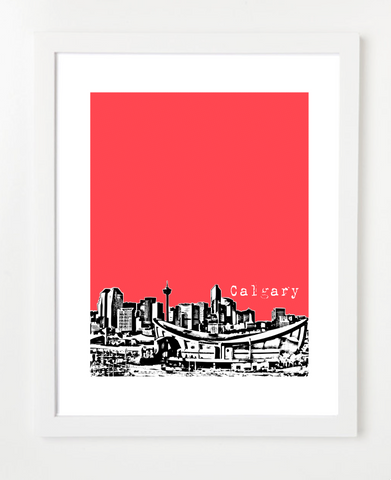 Calgary Alberta Canada Posters and Skyline Art Prints | By BirdAve Posters