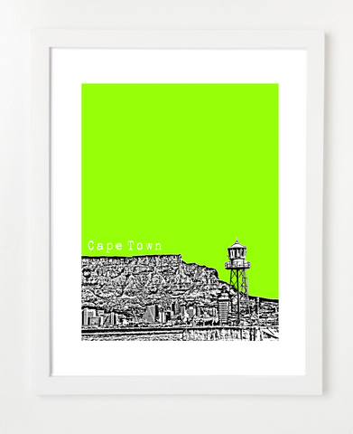 Cape Town South Africa VERSION 1 Posters and Skyline Art Prints | By BirdAve