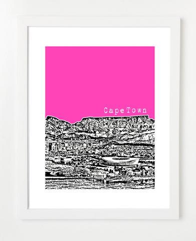 Cape Town South Africa VERSION 2 Posters and Skyline Art Prints | By BirdAve