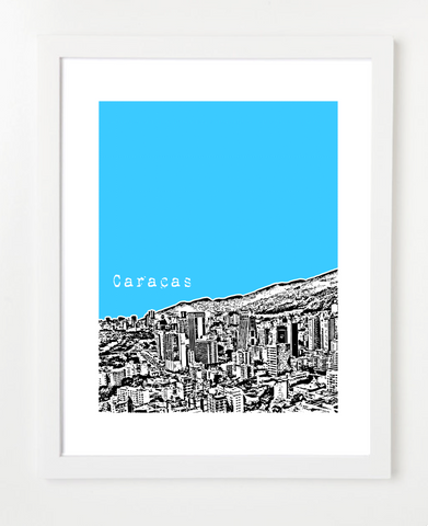 Caracas Venezuela Latin America Posters and Skyline Art Prints | By BirdAve