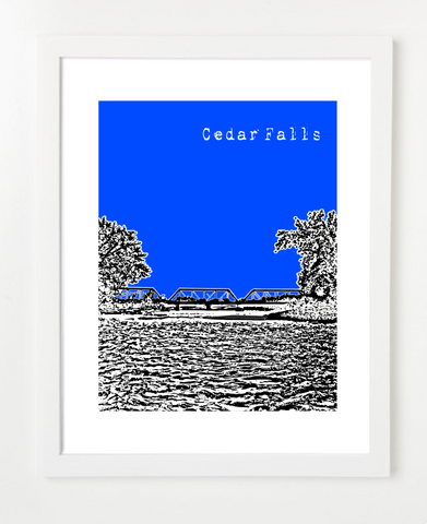 Cedar Falls Iowa Skyline Art Print and Poster | By BirdAve Posters