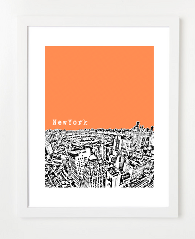 New York City USA Poster Central Park Version  Skyline Art Print and Poster | By BirdAve Posters