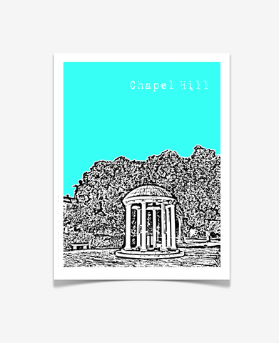 Chapel Hill North Carolina UNC Chapel Hill Poster VERSION 2