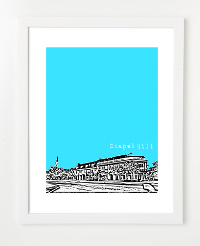 Chapel Hill North Carolina VERSION 1 Skyline Art Print and Poster | By BirdAve Posters