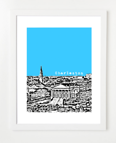 Charleston South Carolina Skyline Art Print and Poster | By BirdAve Posters