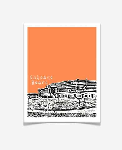 Chicago Bears Soldier Field Illinois Poster