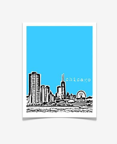 Chicago Illinois Poster VERSION 1