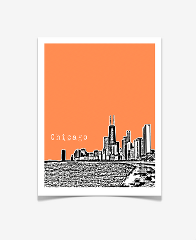 Chicago Illinois Poster VERSION 2