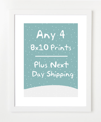 Set of Four Prints - Plus Next Day Shipping