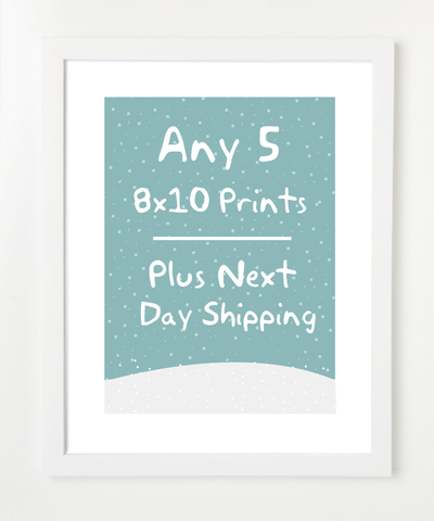Set of Five Prints - Plus Next Day Shipping