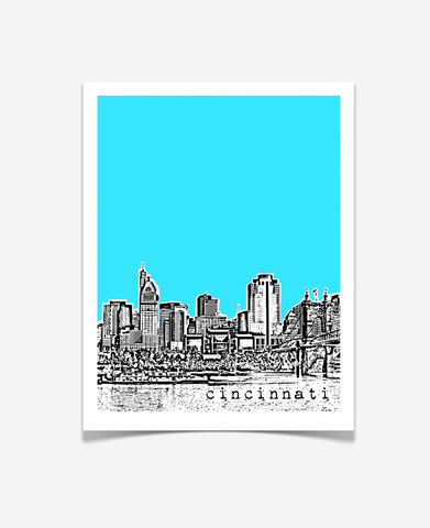 Cincinnati Ohio Poster VERSION 1