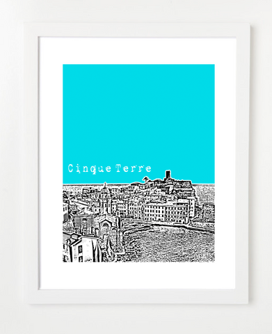 Cinque Terre Italy Europe Posters and Skyline Art Prints | By BirdAve