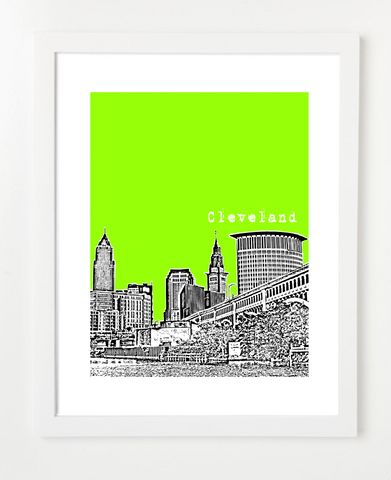 Cleveland Ohio Skyline Art Print and Poster | By BirdAve Posters
