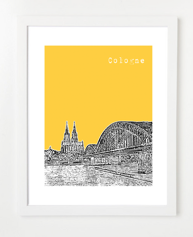 Cologne Germany Europe Posters and Skyline Art Prints | By BirdAve