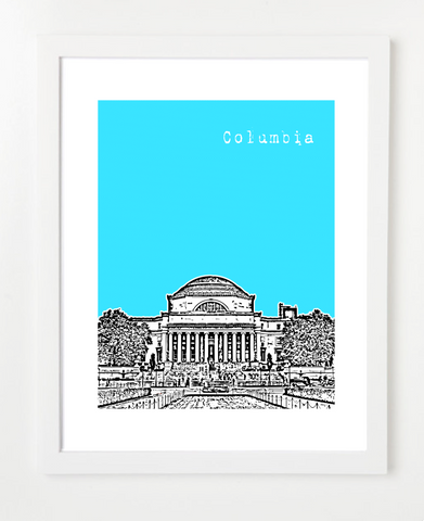 Columbia University New York Skyline Art Print and Poster | By BirdAve Posters