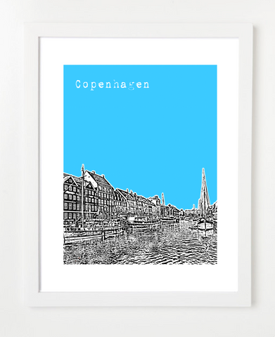 Copenhagen Denmark Europe Posters and Skyline Art Prints | By BirdAve
