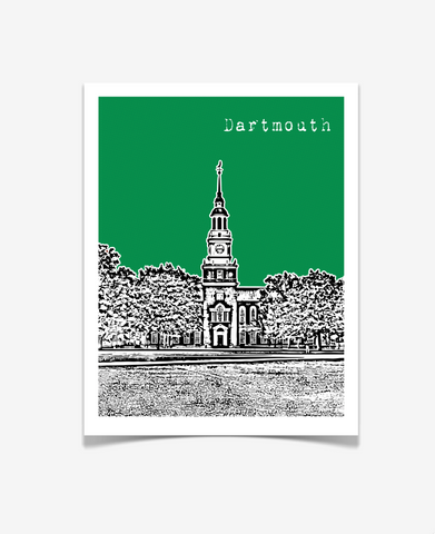 Dartmouth College New Hampshire Poster
