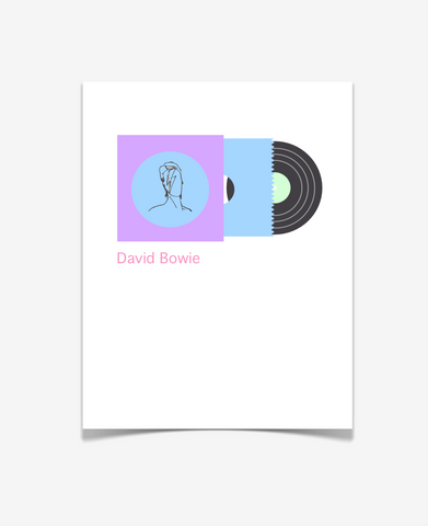 David Bowie Album Art Print - Music Poster -