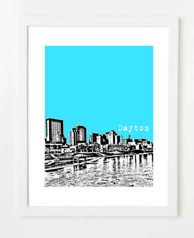 Dayton Ohio Skyline Art Print and Poster | By BirdAve Posters image