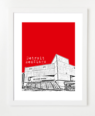 Detroit Red Wings - Joe Louis Arena Michigan Poster