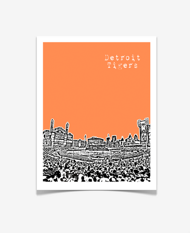 Detroit Tigers Comerica Park Michigan Poster
